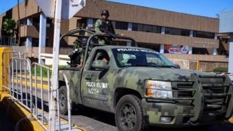 GN resguarda alrededores de edificio del Congreso de BC