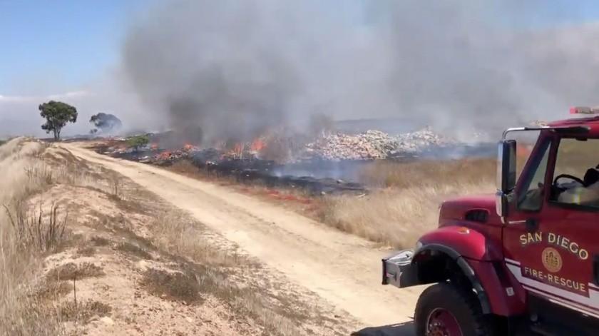 Bomberos de San Diego ya combaten las llamas.
