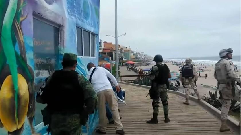 Los activistas de Tijuana exigieron a los militares de la Guardia Nacional (GN) que dejen de perseguir a los migrantes que están en los alrededores de los albergues, pues generan un ambiente de temor.(Cortesía)