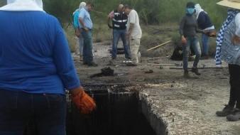 Inician búsqueda de cuerpos en fosa de aceite de Empalme
