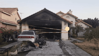 Incendio daña una casa en Calexico