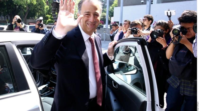 Esta mañana fue captadoJosé Antonio Meade saliendo de Palacio Nacional.(Reforma)
