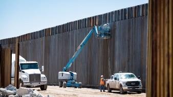 Alzan nuevo muro en San Luis, Arizona