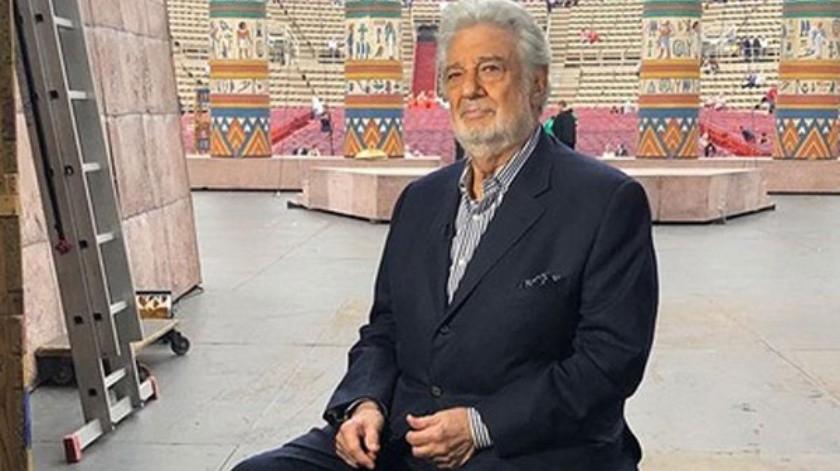 El tenor Plácido Domingo.(Cortesía Instagram)