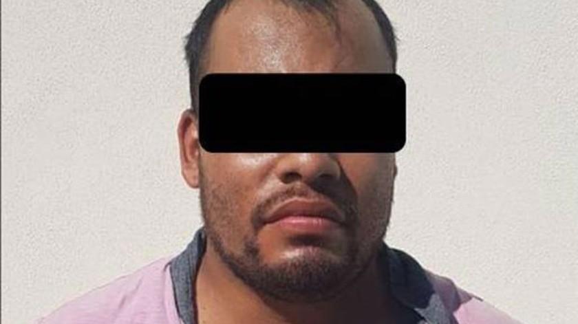 """El detenido está identificado como Edgar N., """"El Flaco"""".(Cortesía)"""