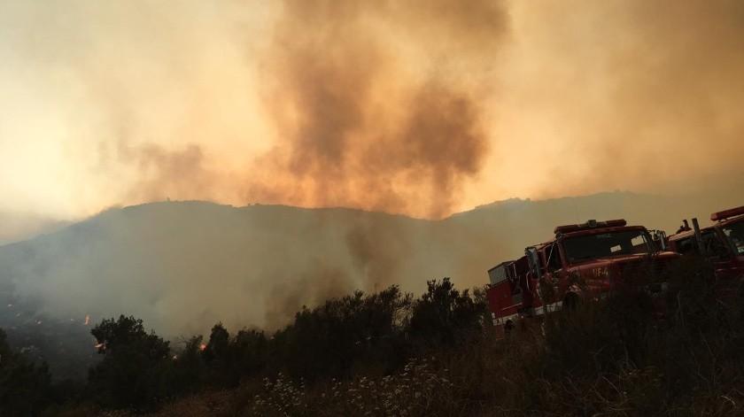 Un total de 45 bomberos combatieron el siniestro.(Cortesía)