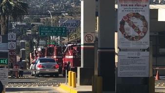 Bomberos de EU apoyan en Tecate para sofocar incendio en La Paloma