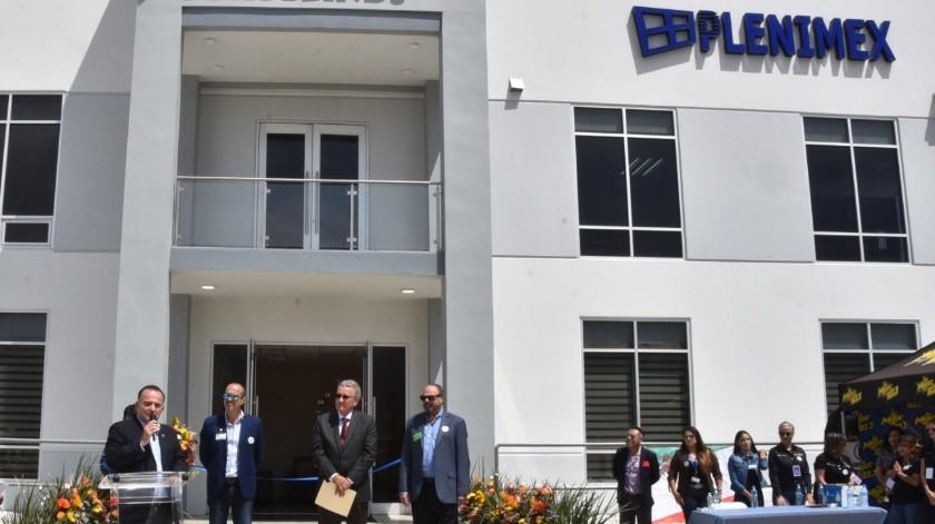 El alcalde de Ensenada Marco Novelo participó en inauguración de las nuevas instalaciones de Plenimex S.A. de C.V., junto autoridades estatales y directivos de dicha empresa ubicada en el Parque Industrial Esmeralda.(Tomada de la red)