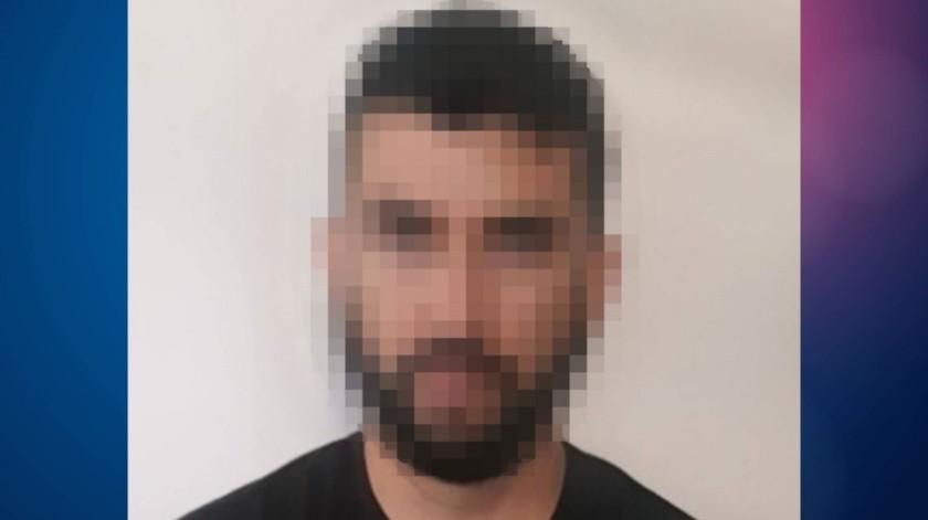 """El detenido está identificado como Edgar """"N"""", de 39 años.(Cortesía)"""