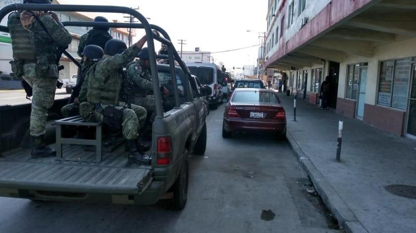 El despliegue de las autoridades lo realizaron en un condominio de la calle Diez en la Zona Centro.