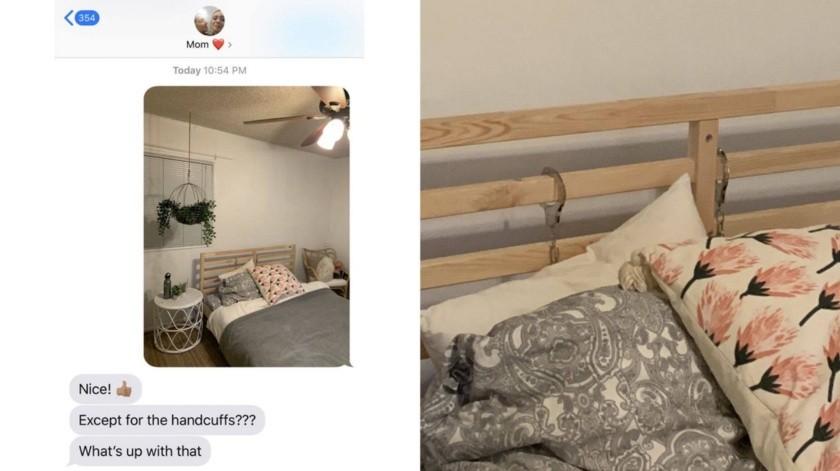 Hija le envía una foto a su mamá de su nueva habitación, se olvida de los detalles(Tomada de la Red)