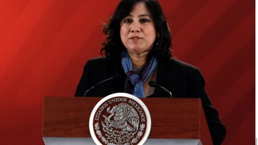 La titular de la Secretaría de la Función Pública (SFP), Irma Eréndira.(Reforma)
