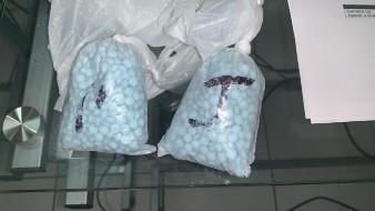 La droga estaba dentro de dos bolsas.