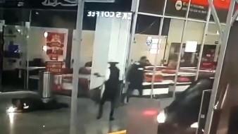 VIDEO: Así murió policía en balacera en centro comercial