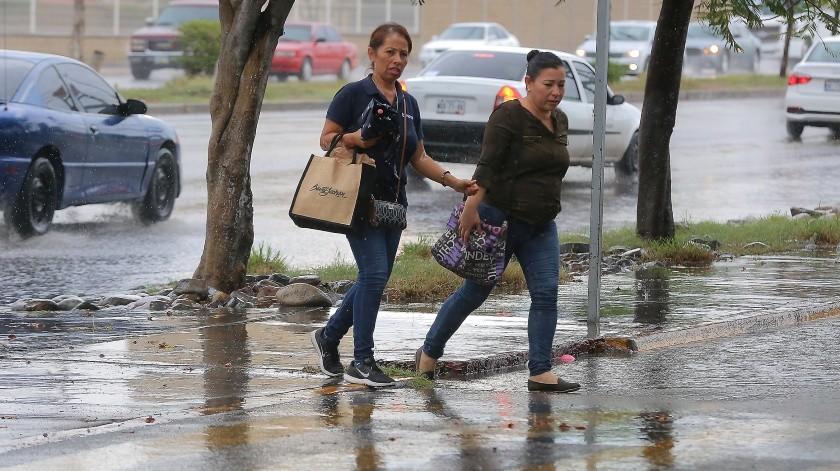 oy se prevén lluvias intensas en Baja California Sur, Sonora y Sinaloa.(Julián Ortega)