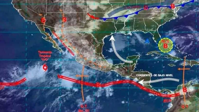 Derivado de los últimos pronósticos y acuerdo a la trayectoria que sigue, las lluvias se esperan para domingo 25 y lunes 26 de agosto.(Cortesía)