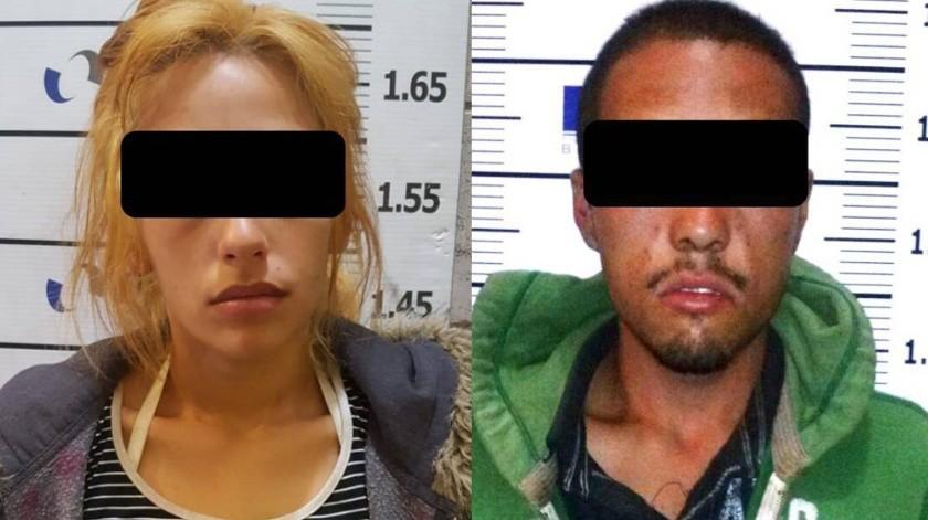 """Los detenidos son Joselyn """"N"""". y Julio Eduardo """"N"""".(Cortesía)"""
