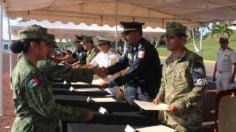 186 elementos de seguridad se gradúan para la Guardia Nacional