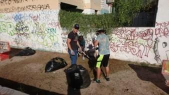 Dejan parque limpio y bonito en la colonia Villa Sureña