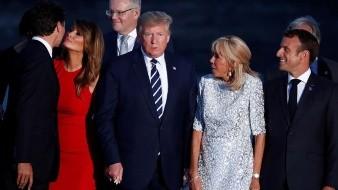 Mirada y beso de Melania Trump a Justin Trudeau se roba el G-7