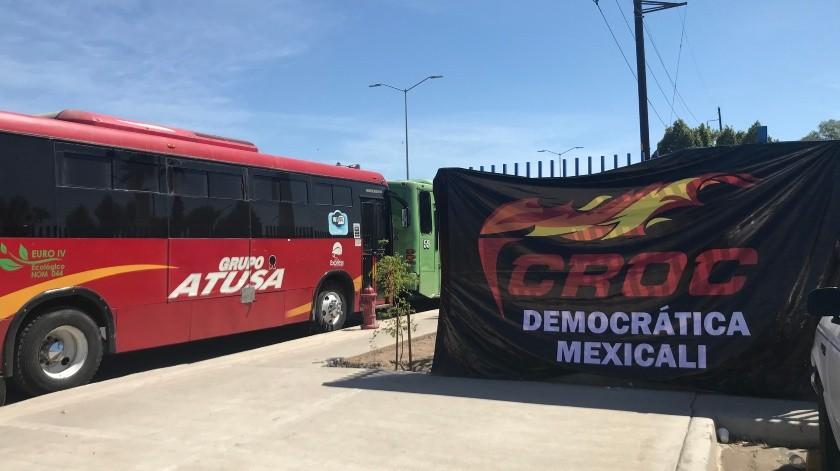Acusan transportistas invasión de rutas por el transporte privado(Andrea Jiménez)