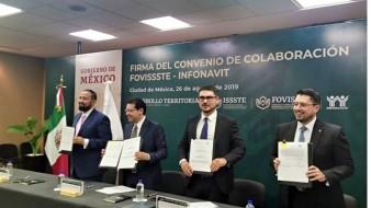 Trabajadores registrados en Infonavit y Fovissste podrán unir cuentas para un sólo crédito hipotecario