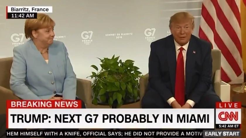 Trump presumió que tiene 'sangre alemana' corriendo por sus venas.(Captura)