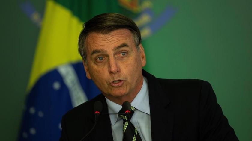 Bolsonaro, en declaraciones a la prensa, negó que Brasil haya rechazado la ayuda económica ofrecida por los países más industrializados del mundo, pero la condicionó.(EFE)