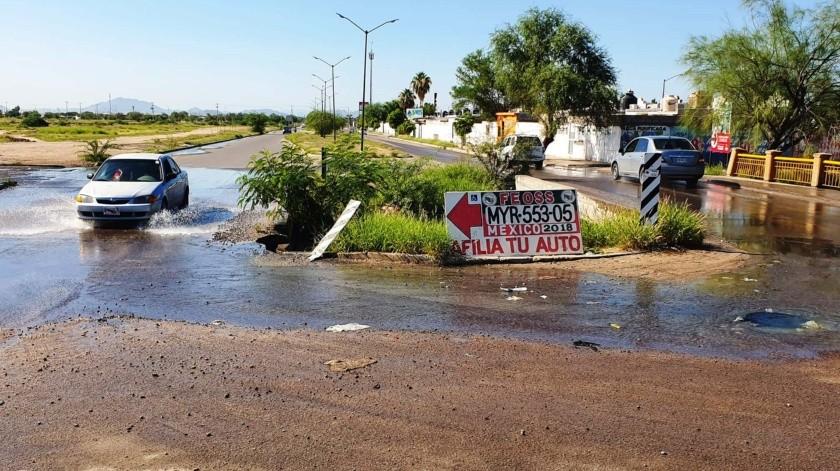 Se registra fuga de aguas negras en la colonia Villa Verde(Julián Ortega)
