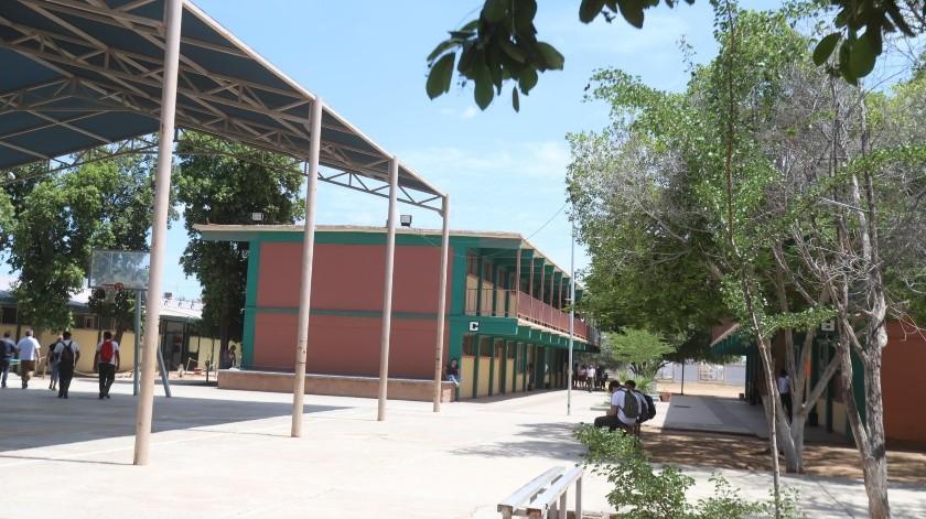 Interior del plantel Conalep 3 que se encuentra ubicado en el Sur de la ciudad.(Teodoro Borbón)