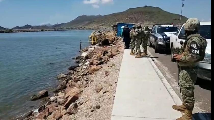 El cuerpo de un hombre fue encontrado flotando en el puente Douglas entre Guaymas y Empalme.
