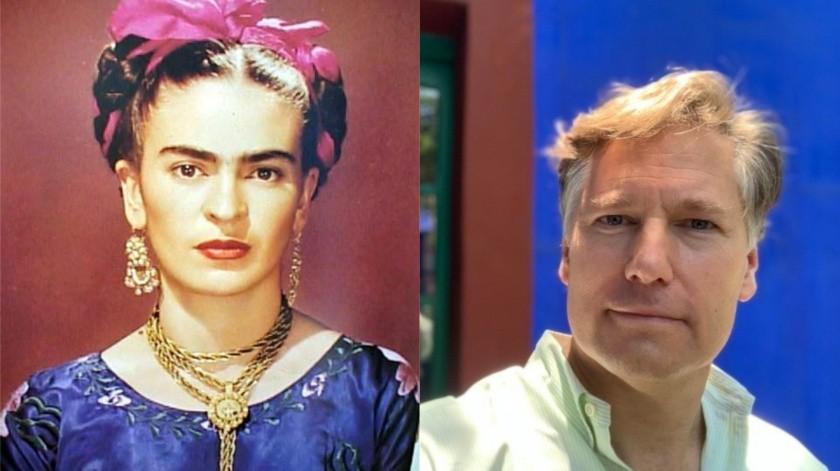 Frida Kahlo y Christopher Landau