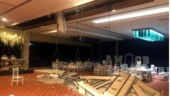 Se cae techo en salón de eventos y se lesionan 12; festejaban una boda