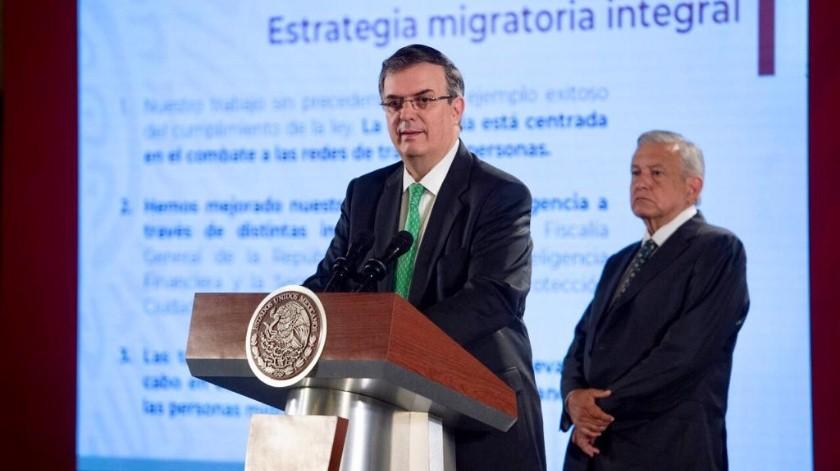 Marcelo Ebrard y Andrés Manuel López Obrador(Gobierno de México)