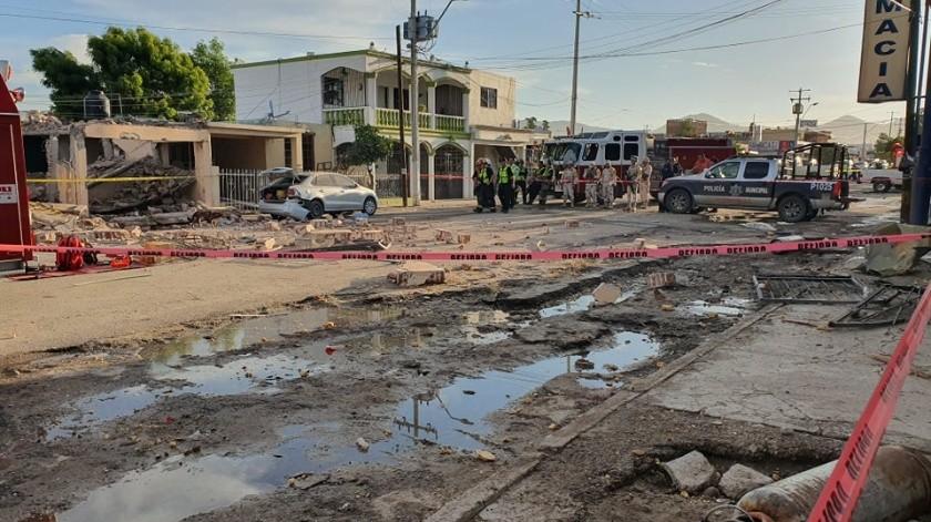 Dos mujeres sin vida y tres lesionados fue el saldo que dejó la explosión de una vivienda la madrugada de este jueves en la colonia Los Jardines.(Julián Ortega)