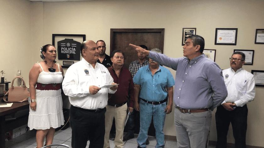 Cambia alcalde de San Luis a Jefe de la Policía(Cortesía)