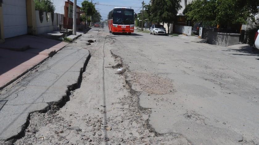 Por la calle Nuevo León, casi con 20 de Noviembre, en la colonia 5 de Mayo.(Teodoro Borbón)