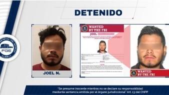 """Joel """"N"""" está a disposición de la Fiscalía General del estado de Puebla."""