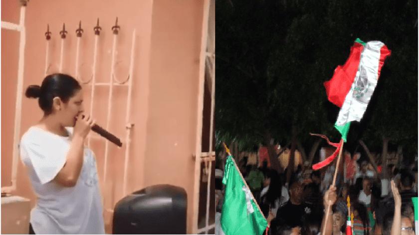 En redes sociales circula el video donde una mujer advierte a sus vecinos que hará una fiesta mexicana.(Especial)