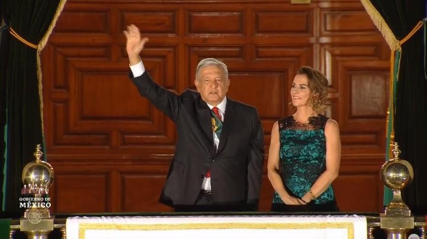 El presidente Andrés Manuel López Obrador dio su primer Grito de Independencia en el Zócalo capitalino.