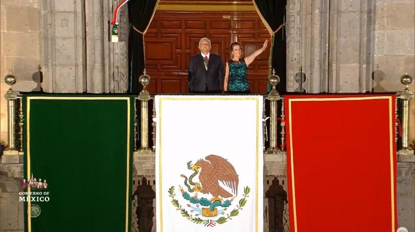 El presidente de México, Andrés Manuel López Obrador, celebró este domingo su primer Grito de Independencia.