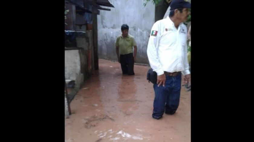 Lluvias provocan desbordamiento de ríos en Chiapas(Especial)