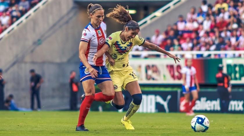 ¡Un Clásico! América sigue sin vencer a Chivas en la Liga MX Femenil(Twitter/ @AmericaFemenil)