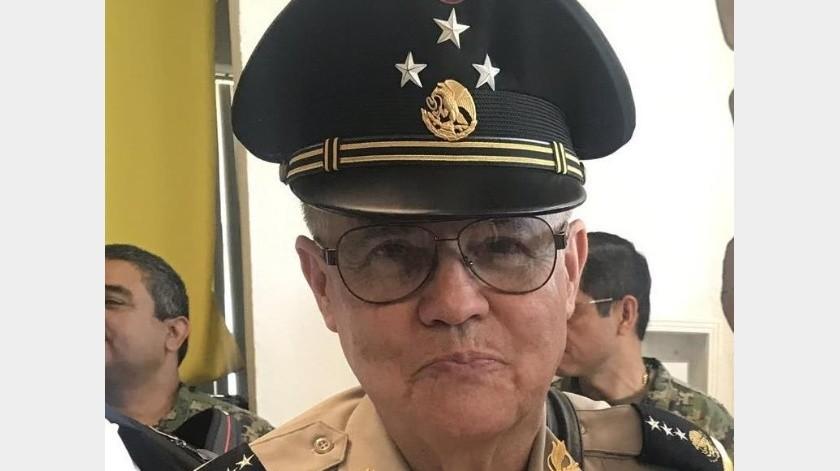 Gilberto Landeros, comisario general de la policía.