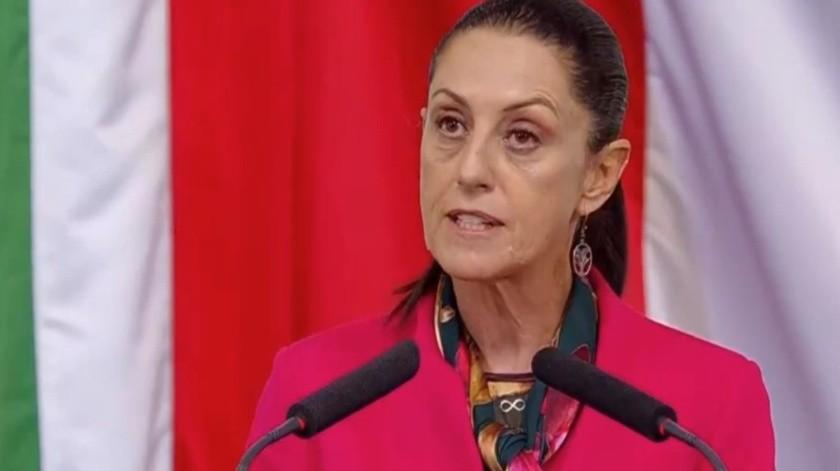 Claudia Sheinbaum presentó su Primer Informe como jefa de Gobierno de la Ciudad de México.