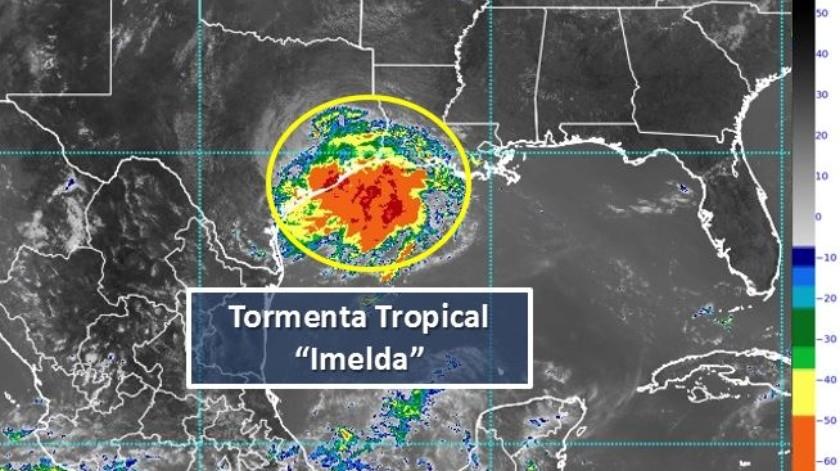 Tormenta tropical Imelda(Conagua)