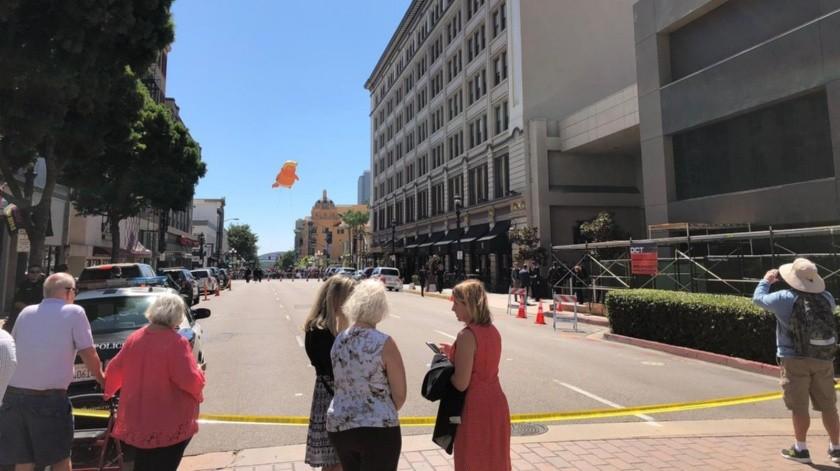 Cierran calles en centro de SD por visita de Trump(Ana Gómez Salcido)