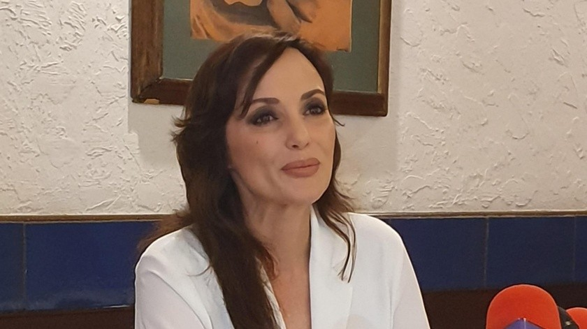 La senadora Lilly Téllez rindió un informe de actividades en Cajeme.