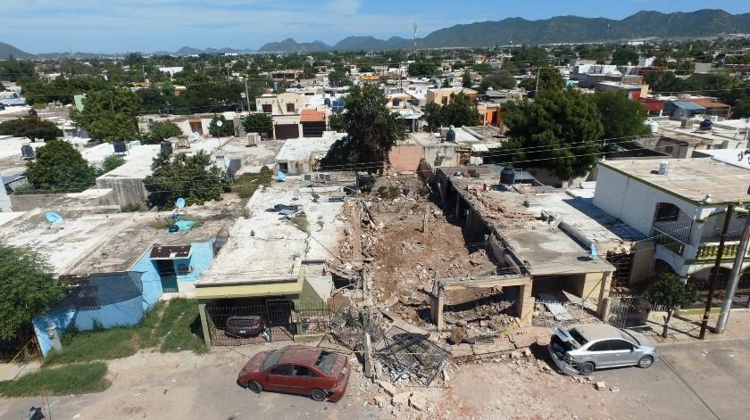 Tres víctimas mortales dejó la explosión registrada en una vivienda en la colonia Los Jardines.
