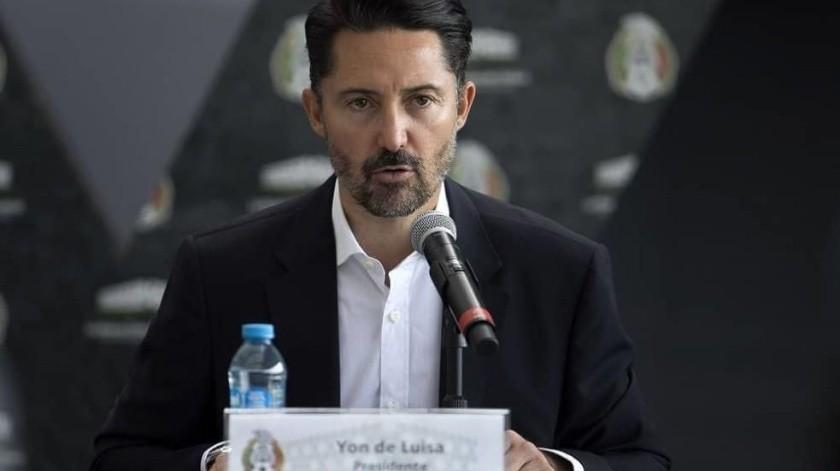 Yon de Luisa, presidente de la Federación Mexicana de Futbol.(Twitter)